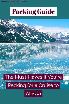 Packing for a cruise to Alaska can be overwhelming. In this post, I break down the must-haves you need for a cruise to Alaska so you're prepared. #packingtips #alaskapackingtips #packingguide #alaskacruisepackingguide #alaskacruise Packing Tips For Vacation, Cruise Vacation, World Travel Guide, Travel Guides, Ways To Travel, Travel Tips, Alaska Cruise Tips, United States Travel, Winter Travel