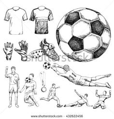 Find Design Elements Soccer Doodle Illustration stock images in HD and millions of other royalty-free stock photos, illustrations and vectors in the Shutterstock collection. Sports Drawings, Art Drawings For Kids, Soccer Drawing, Nike Drawing, Soccer Tattoos, Equipement Football, Nurse Art, Soccer Art, Soccer Inspiration
