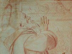 """DOMINIQUIN (d'Après) - St Nil guérit un Jeune Possédé avec l'Huile de la Lampe, Sanguine (drawing, dessin, disegno-Louvre INV9146) - Detail 04  -  TAGS /  details détail détails detalles """"dessins 17e"""" """"17th-century drawings"""" sketch sketches Museum """"Domenico Zampieri"""" """"Le Dominiquin"""" """"saint Nil"""" kid kids Bible man men hommes portrait portraits face """"little boy"""" garçon baby bébé Jésus Vierge Virgin people women female faces """"jeune femme"""" """"young woman"""" turban oriental prière prayer """"red chalk"""""""