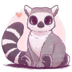 💕✨ as part of my kawaii animal series … ✨💕 Kawaii Ring Tailed Lemur! 💕✨ as part of my kawaii animal series 😄💕 Y'all know the drill! Comment below any requests for what animal you'd like to see me draw next! Cute Kawaii Animals, Cute Animal Drawings Kawaii, Cute Drawings, Manga Kawaii, Kawaii Art, Kawaii Chibi, Images Kawaii, Posca Art, Animal Doodles