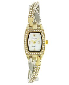 Style&co. Watch, Women's Two Tone Crossover Bracelet SC1166