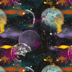 Cosmic Space - Galaxy Viewpoint - Black