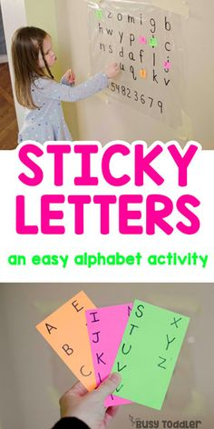 Sticky Letters Activity #toddler #toddleractivity #easytoddleractivity #indooractivity #toddleractivities #preschoolactivities #homepreschoolactivity #playactivity #preschoolathome