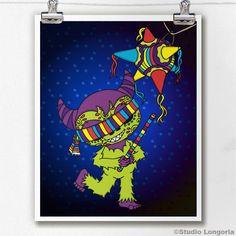 Dia De Los Muertos Cucuy Pinata by StudioLongoria on Etsy, $10.00