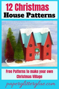 icu ~ How to make the Happy Holiday House Christmas Putz House No. 8 ~ How to make the Happy Holiday House Christmas Putz House No. Christmas Mantels, Diy Christmas Tree, Christmas Paper, Pink Christmas, Vintage Christmas, Christmas Holidays, Victorian Christmas, Christmas Decorations, Christmas Ornaments