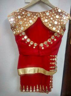 You found it Latest Elegant Sari Blouse Click visit link above for more info - Saree Blouses Sari Blouse Designs, Saree Blouse Patterns, Designer Blouse Patterns, Fancy Blouse Designs, Blouse Styles, Dress Patterns, Designer Dresses, Mirror Work Blouse Design, Trendy Sarees