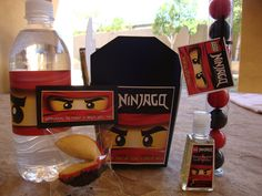 Lego Ninjago party favors