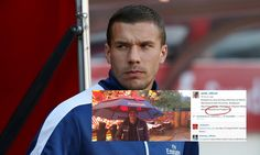 Lukas Podolski hits out after controversial Instagram post - http://www.squawka.com/news/lukas-podolski-voices-his-frustrations-at-a-lack-of-playing-time-again/228340 #Soccer #Sports #Football #AFC #Arsenal