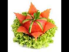 014. Darmowy kurs carvingu kwiat z pomidora / Free carving course tomato flower - YouTube