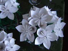 White Paper Flower Centerpieces/custom