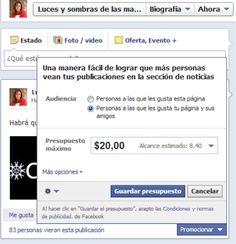 Facebook Ads presupuesto.... Repinned by @jagtomas #ixu