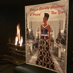 Luxury Fashion illustration Christmas cards -Handcrafted - 3D effect More info on my online shop #christmascards #fashionillustrationchristmascards #blackchristmascards #luxurychristmascards