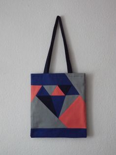 Diamond tote bag par sewingrosalie - thread&needles