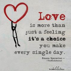 Love Is More Than Just A Feeling