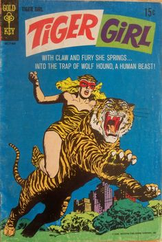 Silver Age Tiger Girl in the Urban Jungle Vintage Comic Books, Vintage Comics, Comic Books Art, Jordi Bernet, Tiger Girl, Motifs Animal, Silver Age Comics, She Wolf, Old Comics
