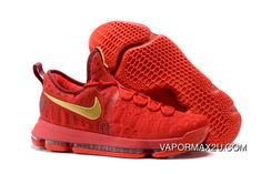 0d16e526fb4 Best Nike KD 9 Red Gold Men s Basketball Shoes 2016 Release