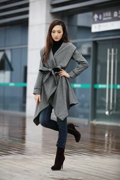 This coat though- and jeans are cute with it.