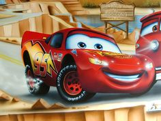 """Flash McQueen: a 5 years old French friend taught me that """"Lightning"""" McQueen does not exist in France, but """"Flash"""" does."""