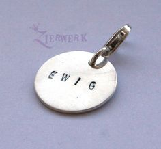 Charms - Charm handgestempelt Sterling Silber - ein Designerstück von Zierwerk bei DaWanda