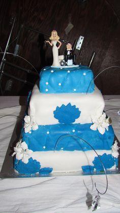 Kendra & Gabe's wedding cake.