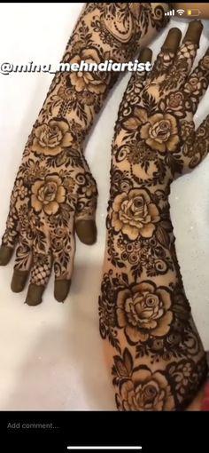Modern Henna Designs, Full Mehndi Designs, Henna Designs Feet, Mehndi Designs For Beginners, Wedding Mehndi Designs, Wedding Henna, Mehndi Design Images, Mehndi Designs For Hands, Flower Designs