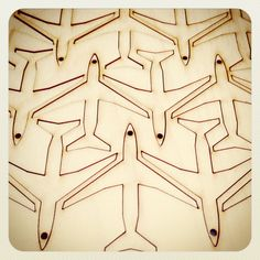 Super cute wooden laser cut plane shapes 6cm. Steve :-)