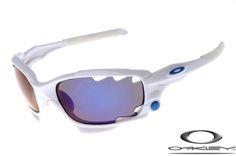 Oakley limited edition fathom racing jacket sunglasses polished white ice iridium outlet
