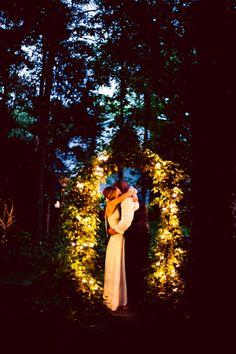 Garden wedding in the forest