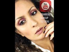 Cranberry Makeup look/ Huda Beauty Desert Dusk Palette /සිංහළ