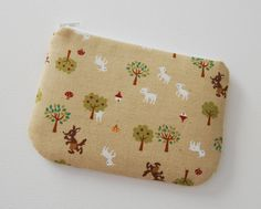 Padded Zipper Pouch Coin Purse Big Bad Wolf and Sheep. $8.50, via Etsy.