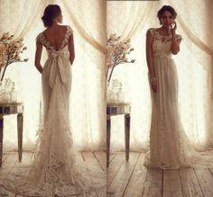 cap sleeve wedding dress lace vintage   vintage high neck open back wedding dress lace sheath cap sleeves ...