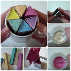 #tutorial come fare gessetti da pavimento #diy
