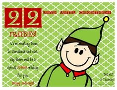 Christmas Countdown-22 Days left! Free School Christmas ideas and clipart!