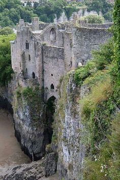Chepstow, Wales - the oldest surviving stone castle in Britain
