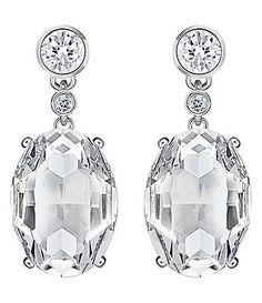 905c2a452 Swarovski Vintage Drop Earrings #Dillards Crystal Earrings, Crystal Jewelry,  Pearl Jewelry, Drop