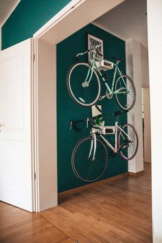 "Bicycle wall holder S-RACK (former Bikeshelf ""velo-stop"" white /birch) Bike Storage Small Space, Bicycle Storage, Small Storage, Storage Spaces, Indoor Bike Storage, Bicycle Wall Mount, Bike Storage Apartment, Sas Entree, Bike Shelf"