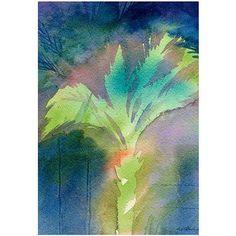 Trademark Art Night Palm Canvas Wall Art by Shelia Golden, Size: 16 x 24, Multicolor