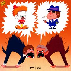 Конте и Моуриньо развивают вражду между собой - Футбольные карикатуры - Блоги - Sports.ru