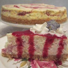 Lavender Raspberry Cheesecake
