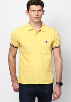 d538e9c88 Buy GIORDANO Yellow Solid Polo TShirts Online - 3342632 - Jabong