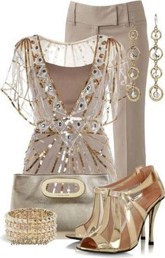 LIKE Blouse, but better if Dress. LIKE Pants, but in darker Tan to Match Camisole of Blouse. LIKE Purse, Bracelet