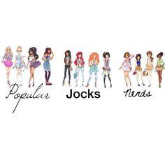 Disney Princesses Highschool Categories