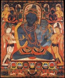Vajrasattva (Buddhist Deity) - White (with consort) (HimalayanArt)