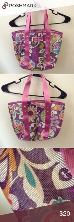 Small Vera Bradley Tote Cute, colorful tote. Made of a sturdy mesh like material. Specific measurements upon request. Vera Bradley Bags Totes