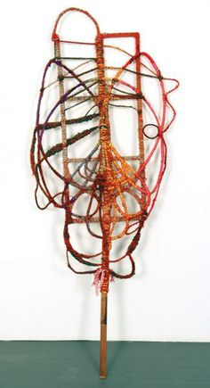 Bug, 2011, String, wire, wood 52 x 36 x 3 inches