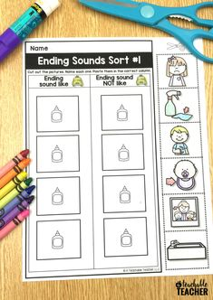 Picture-based cut and paste phonemic awareness worksheets. These are perfect kindergarten, first grade, and English language learners!