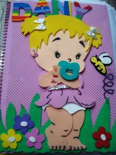capa de caderno decorado EVA