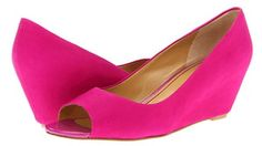 Pink Shoes 2013: Nine West 'Mymoon' - Wedge Pumps in Pink Suede