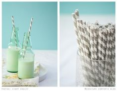 Specialty straws and cool glass wear can make even a seltzer water look festive!