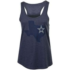 Women's Dallas Cowboys Lone State Tank ($28) ❤ liked on Polyvore featuring tops, navy, summer tank tops, racer back tank tops, navy blue top, nfl top and summer tanks